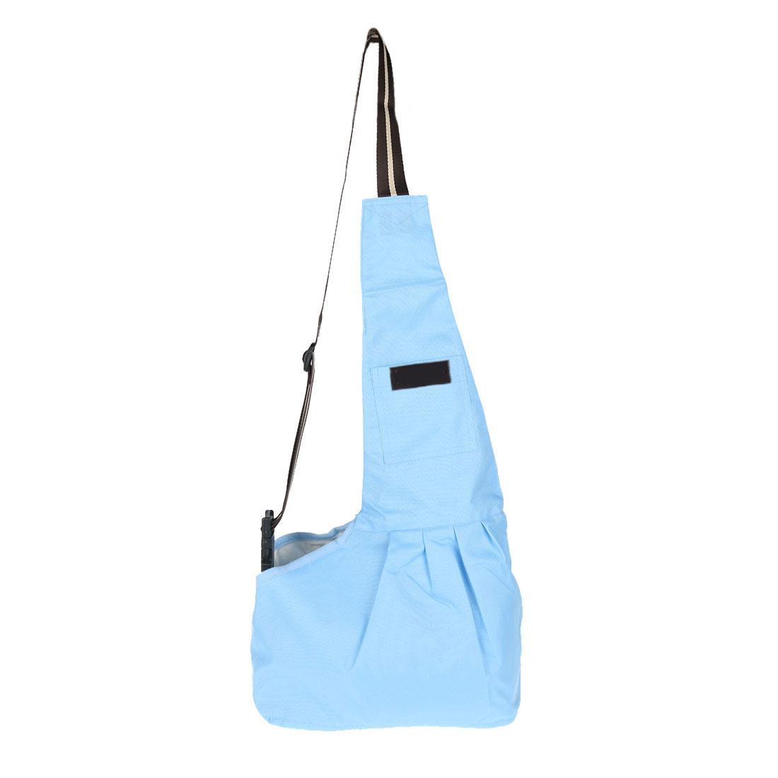 Outdoor Oxford Cloth Adjustable Single Shoulder Small Dog Cat Pet Carrier Bag Blue M