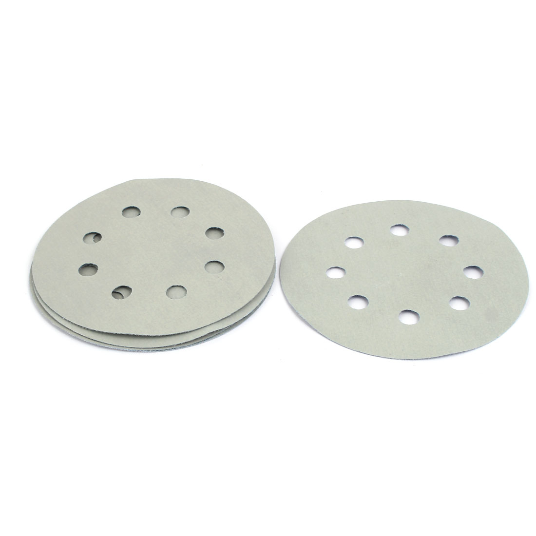 """5000 Grit 8 Hole 5"""" Diameter Sandpaper Hook Loop Sanding Disc 5 Pcs"""