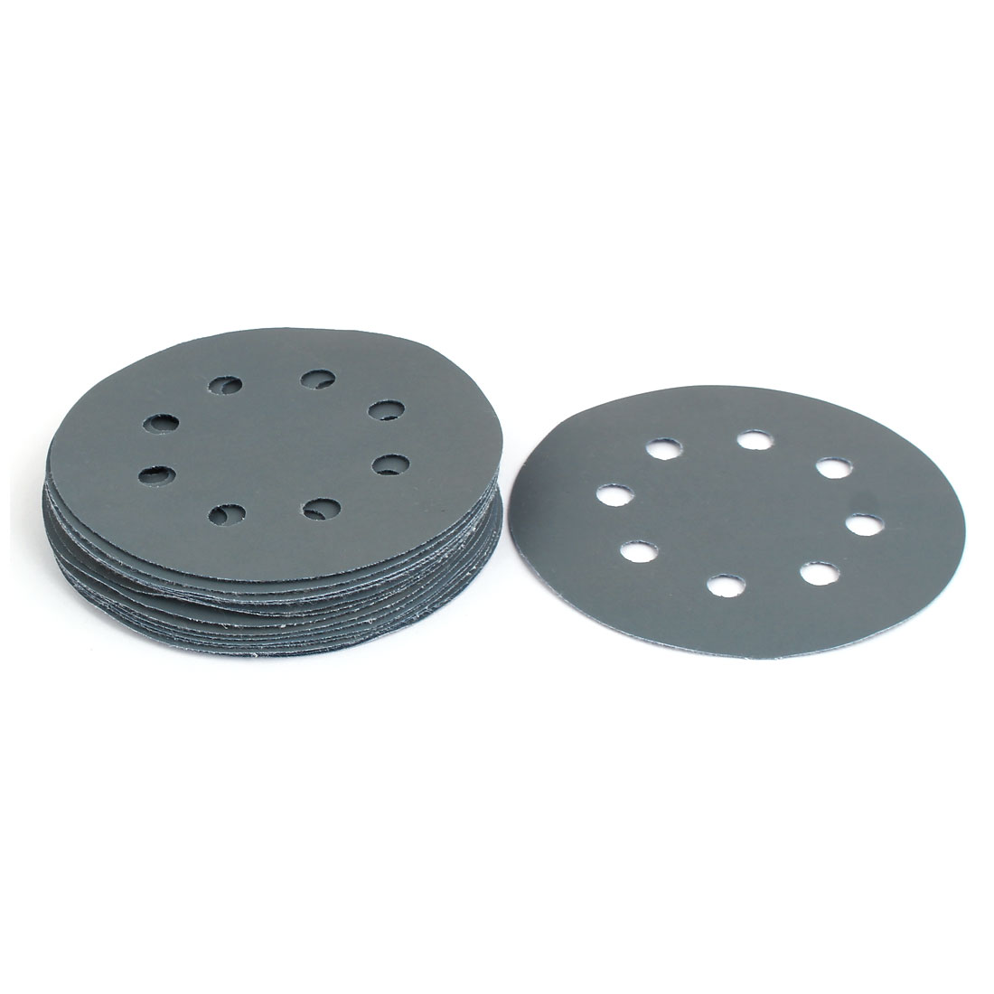 "3000 Grit 8 Hole 5"" Diameter Sandpaper Hook Loop Sanding Disc 15 Pcs"