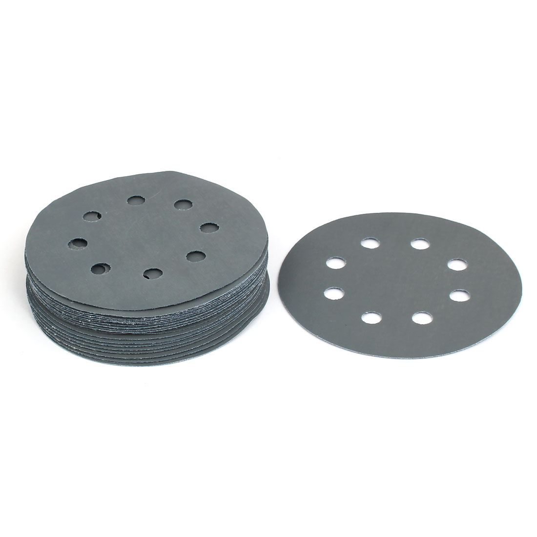 "3000 Grit 8 Hole 5"" Diameter Sandpaper Hook Loop Sanding Disc 20 Pcs"
