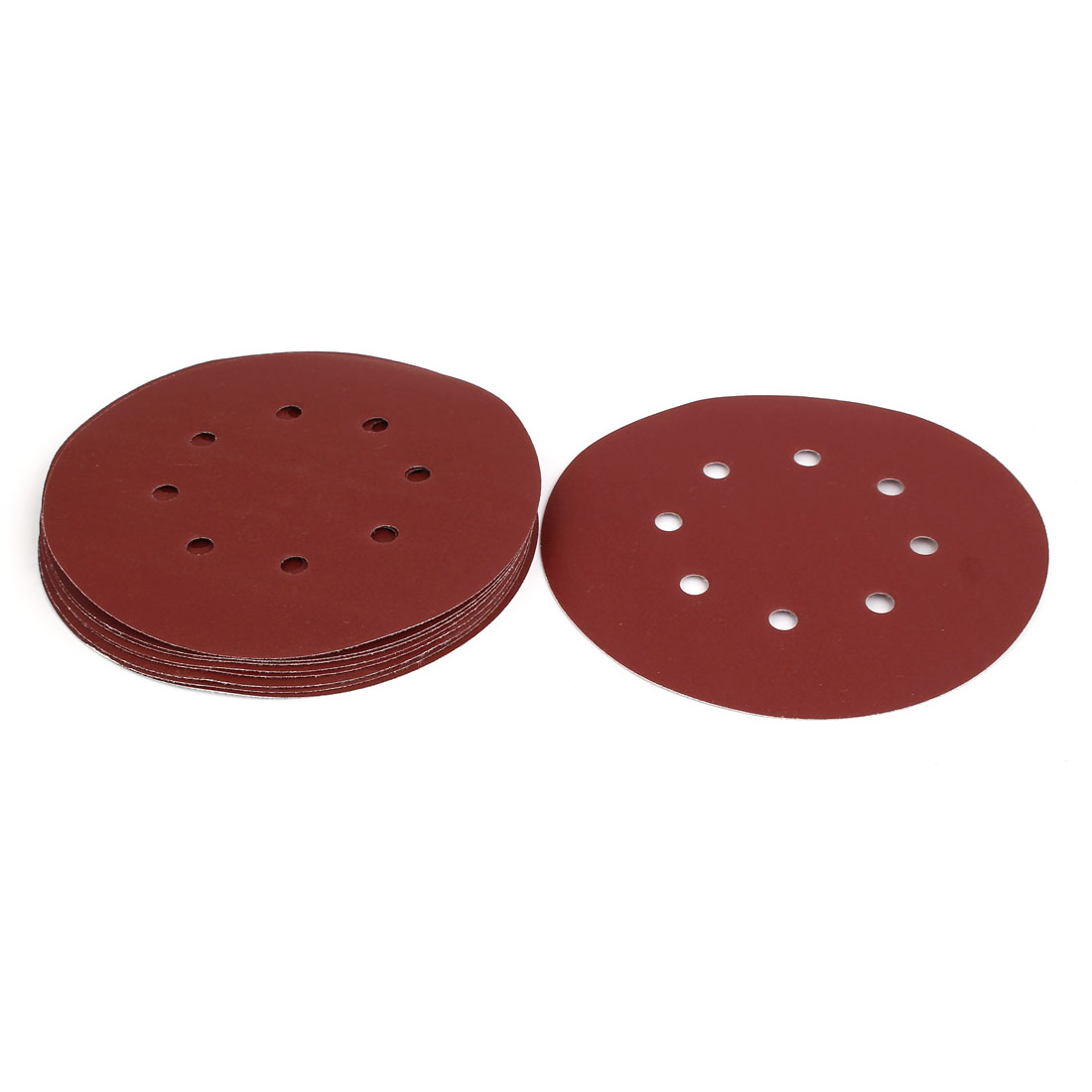 "400 Grit 8 Hole 7"" Diameter Sandpaper Hook Loop Sanding Disc 10 Pcs"