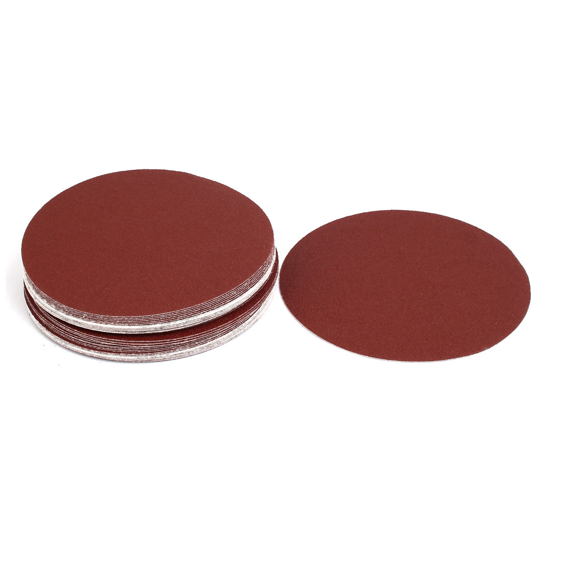 "80 Grit 7"" Diameter Sandpaper Hook Loop Sanding Disc 30 Pcs"