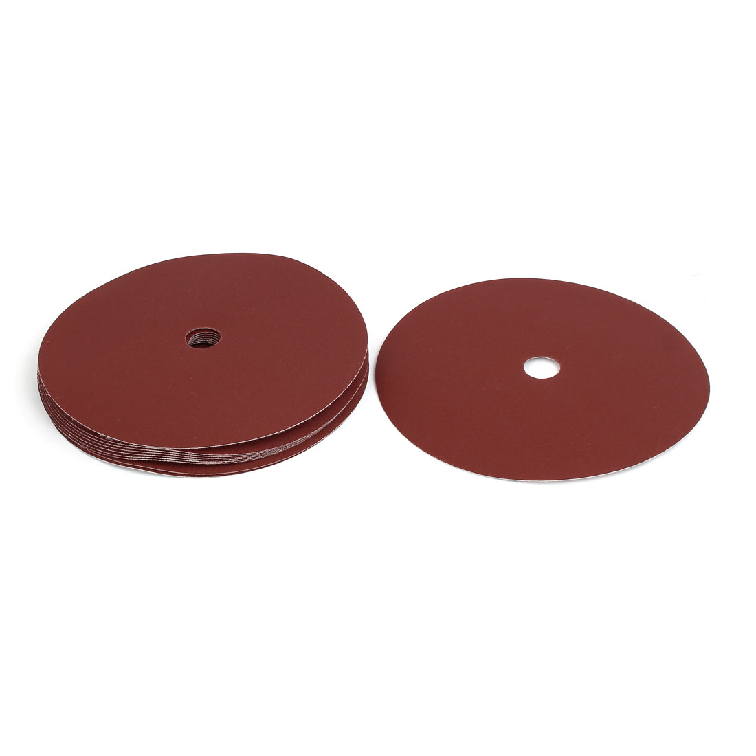 "240 Grit 1 Hole 7"" Diameter Sandpaper Hook Loop Sanding Disc 10 Pcs"
