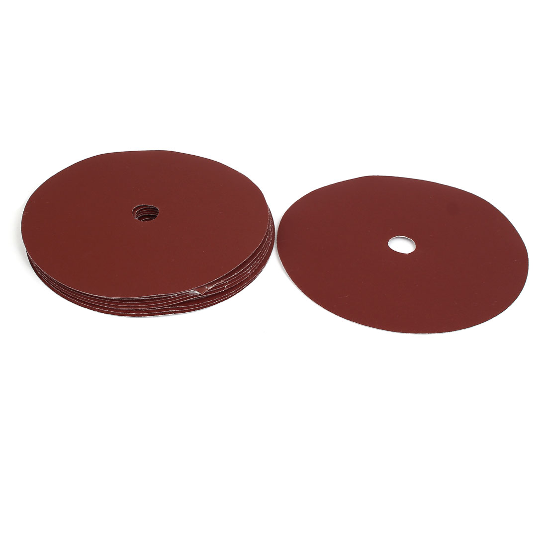 "400 Grit 1 Hole 7"" Diameter Sandpaper Hook Loop Sanding Disc 10 Pcs"