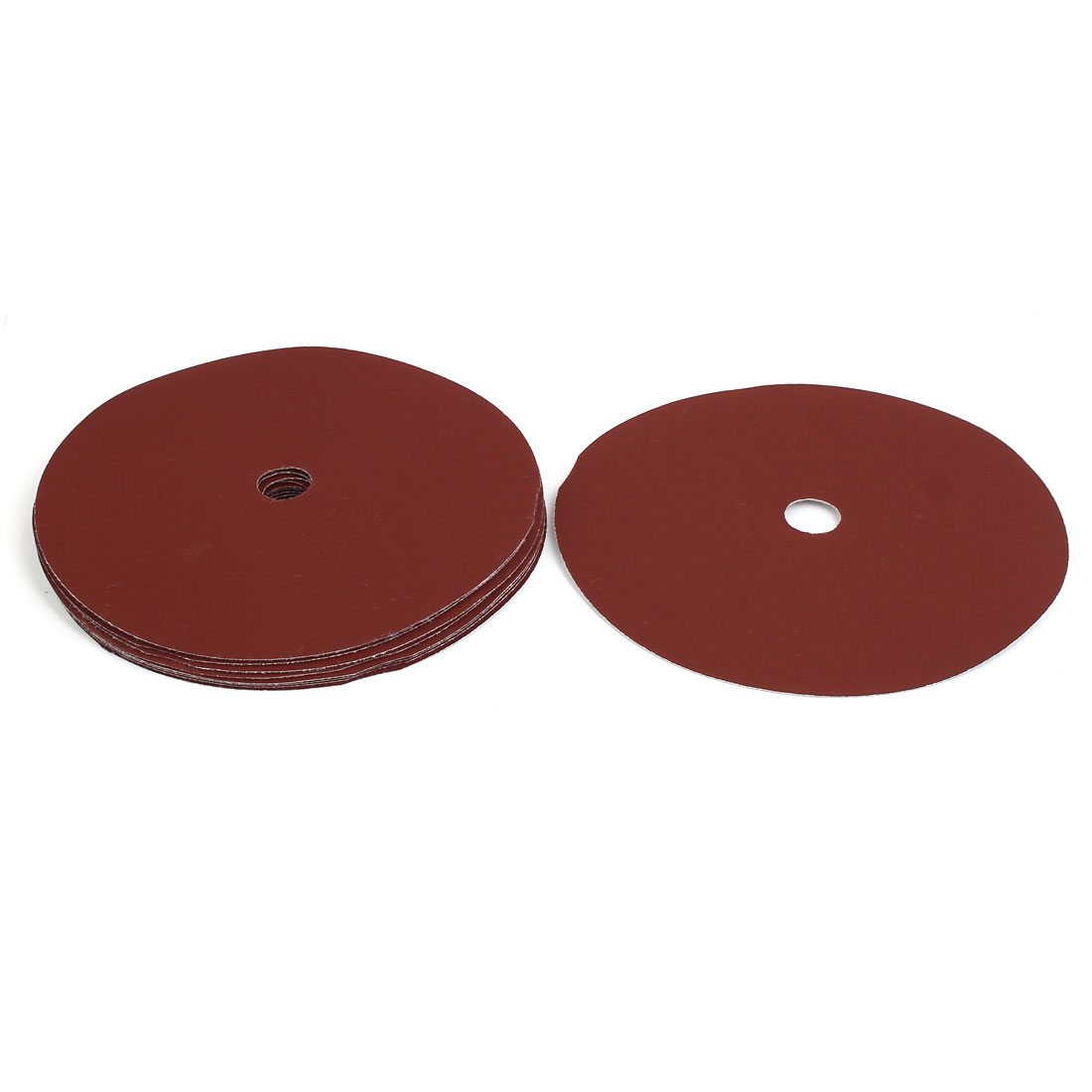 "600 Grit 1 Hole 7"" Diameter Sandpaper Hook Loop Sanding Disc 10 Pcs"