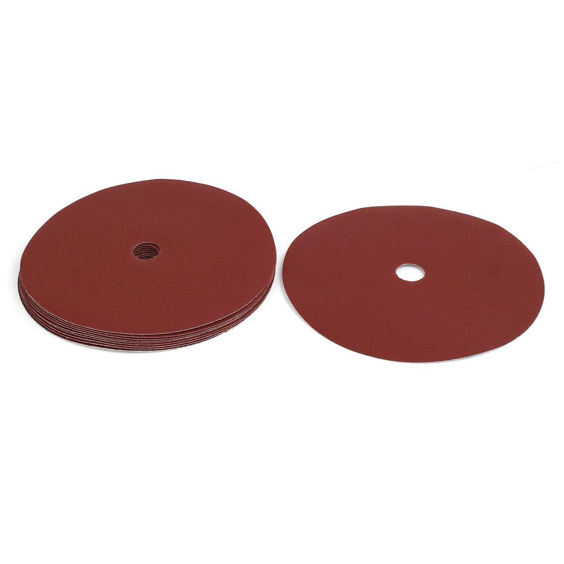 """800 Grit 8 Hole 7"""" Diameter Sandpaper Hook Loop Sanding Disc 10 Pcs"""