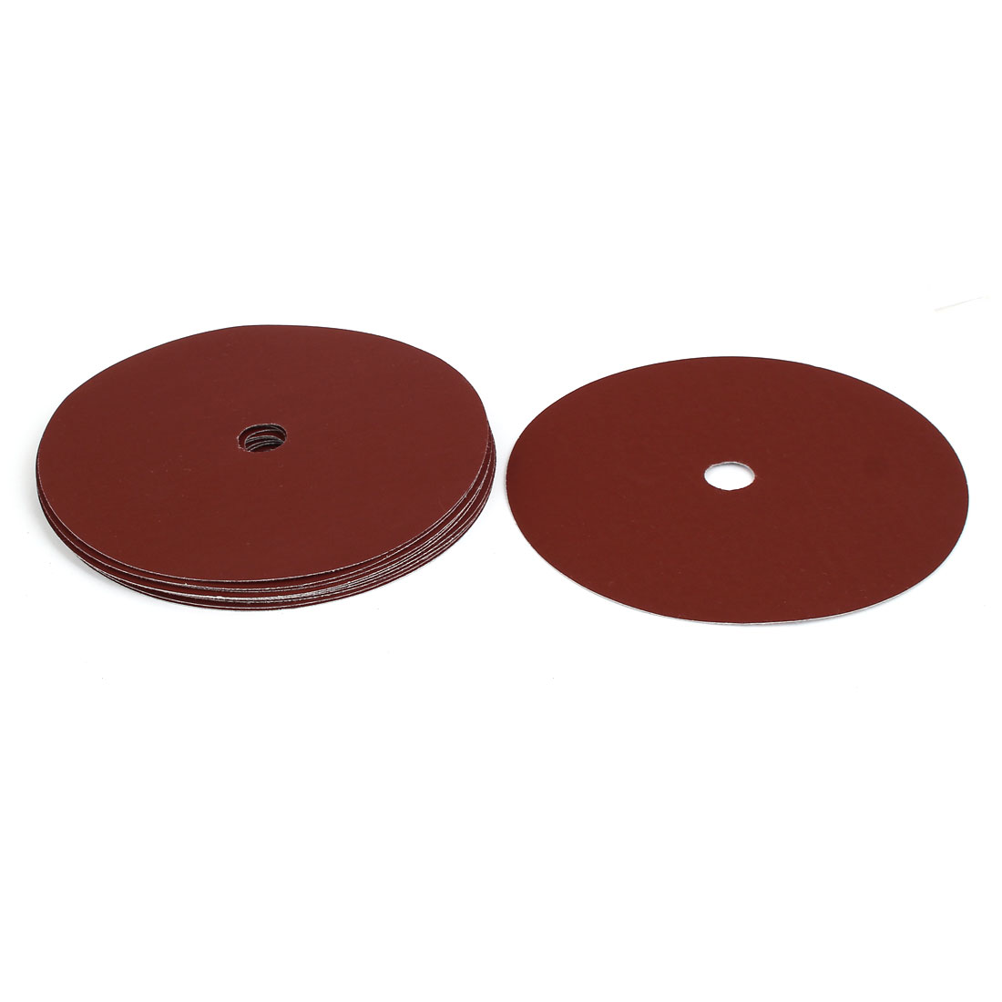 "1000 Grit 1 Hole 7"" Diameter Sandpaper Hook Loop Sanding Disc 10 Pcs"