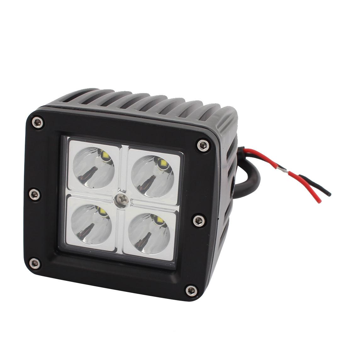 12W-B02 12W DC 10V-30V 4 LED Bulb Spotlight Working Lamp for Truck Car