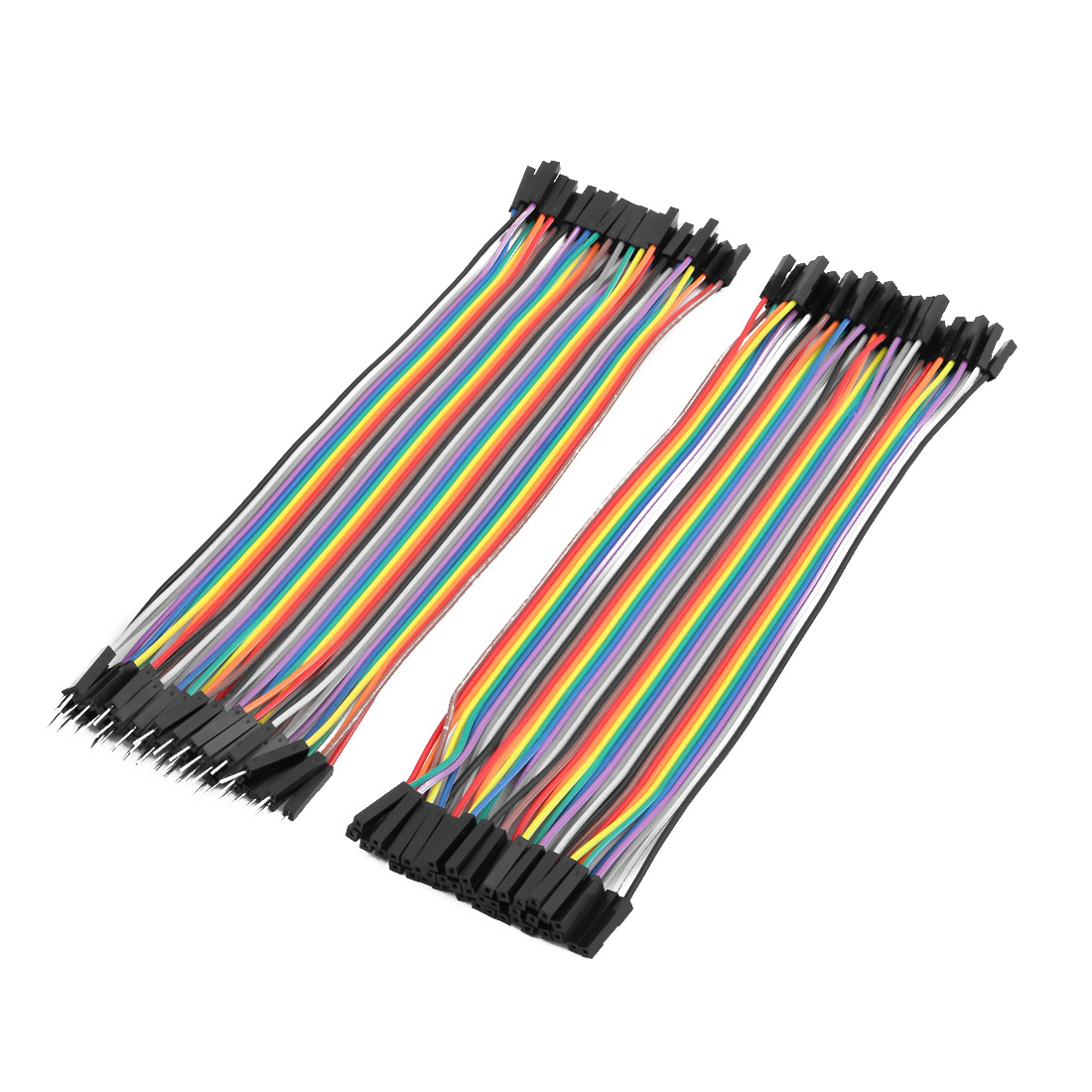 2 pcs Female to Male 40P Jumper Wire Ribbon Cable Pi Pic Breadboard DIY 20cm Long