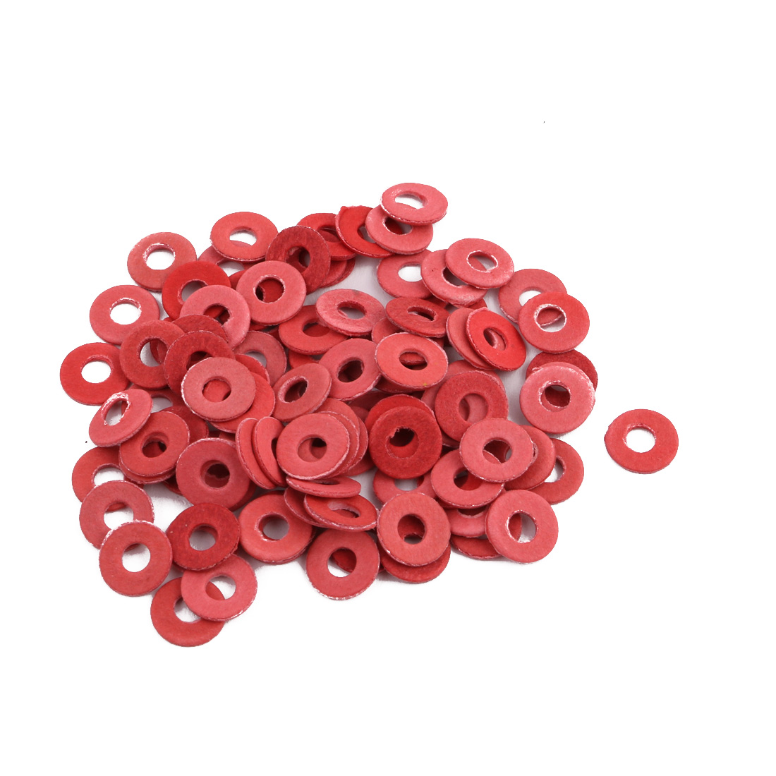 M3 x 8mm x 1mm Nylon Flat Insulating Washers Gaskets Spacers Fastener 100PCS