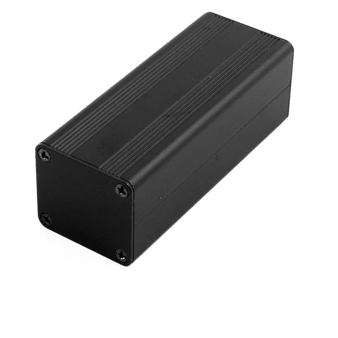 81mmx32mmx28mm Multi-purpose Electronic Extruded Aluminum Enclosure Box Black
