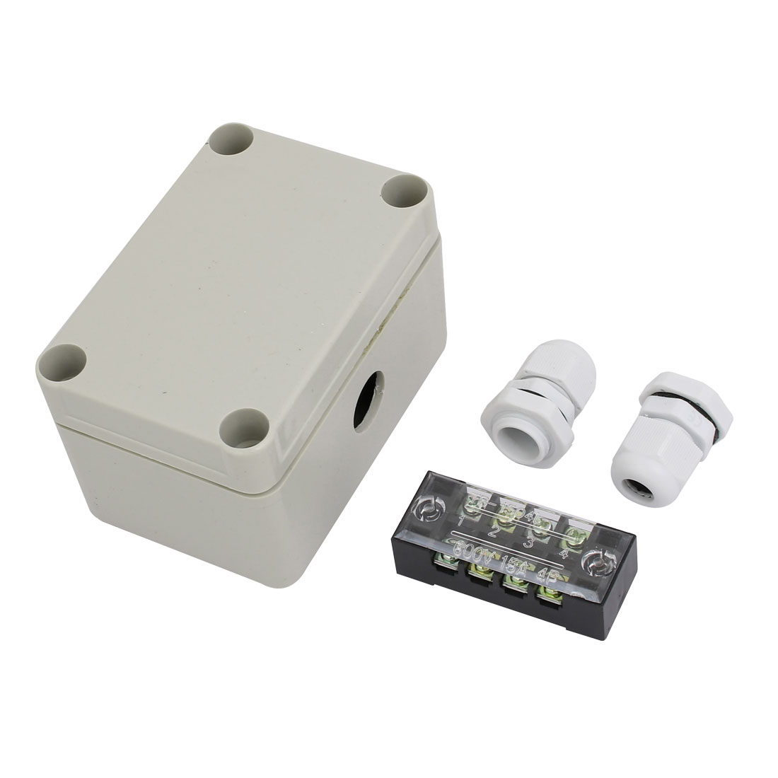 Cable Gland Barrier Terminal Block Electrical Junction Box Set 4 in 1