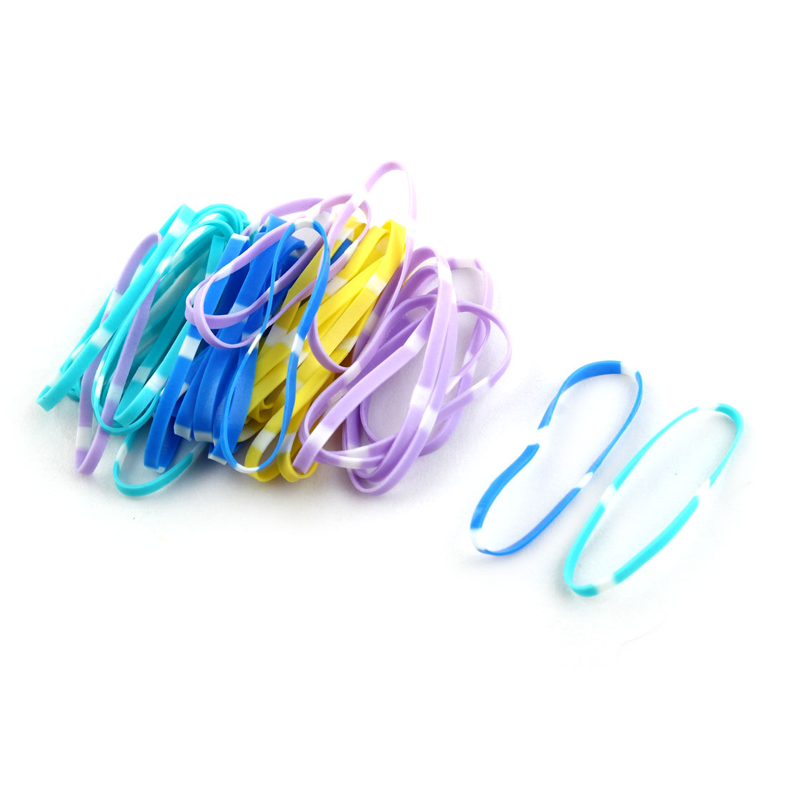 Girl Elastic Rubber Hair Tie Rope Ring Band Haristyle Maker Holder Assorted Color 240 Pcs