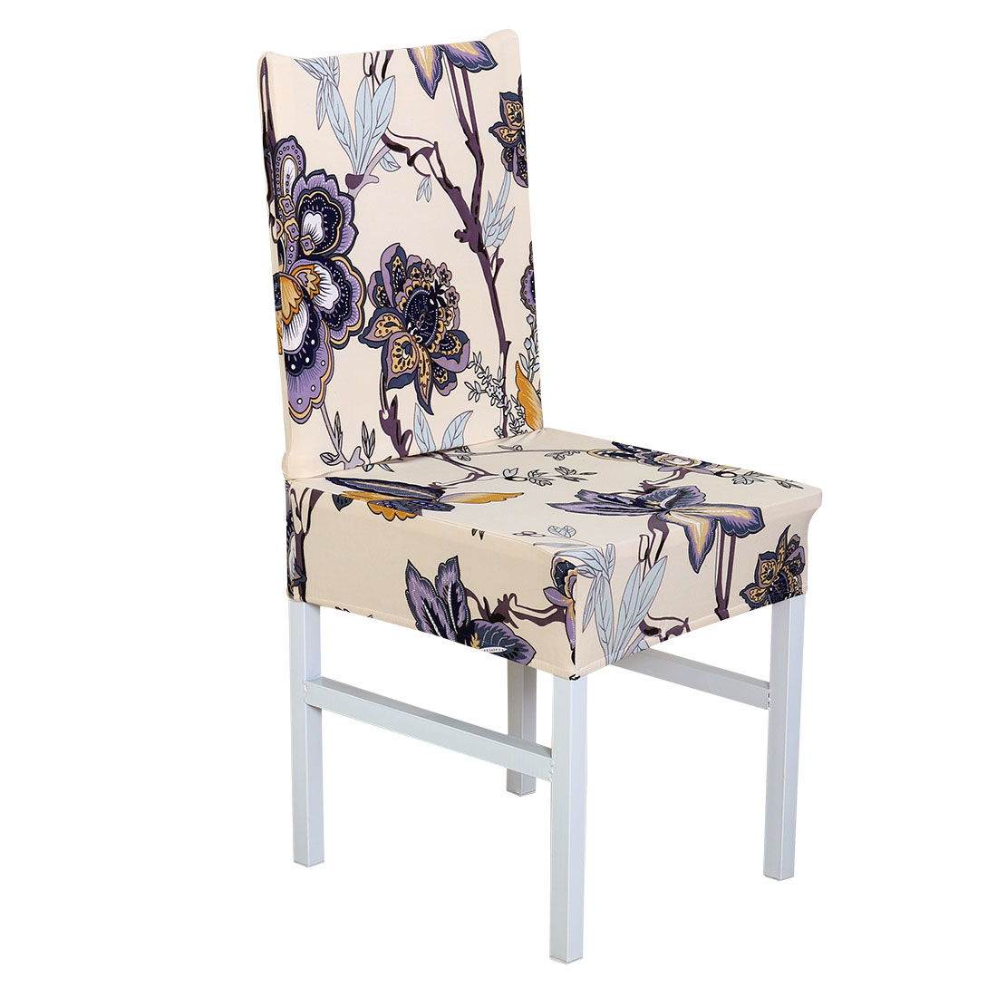 Removable Stretch Chair Cover Protector Seat Slipcover for Wedding Hotel Home