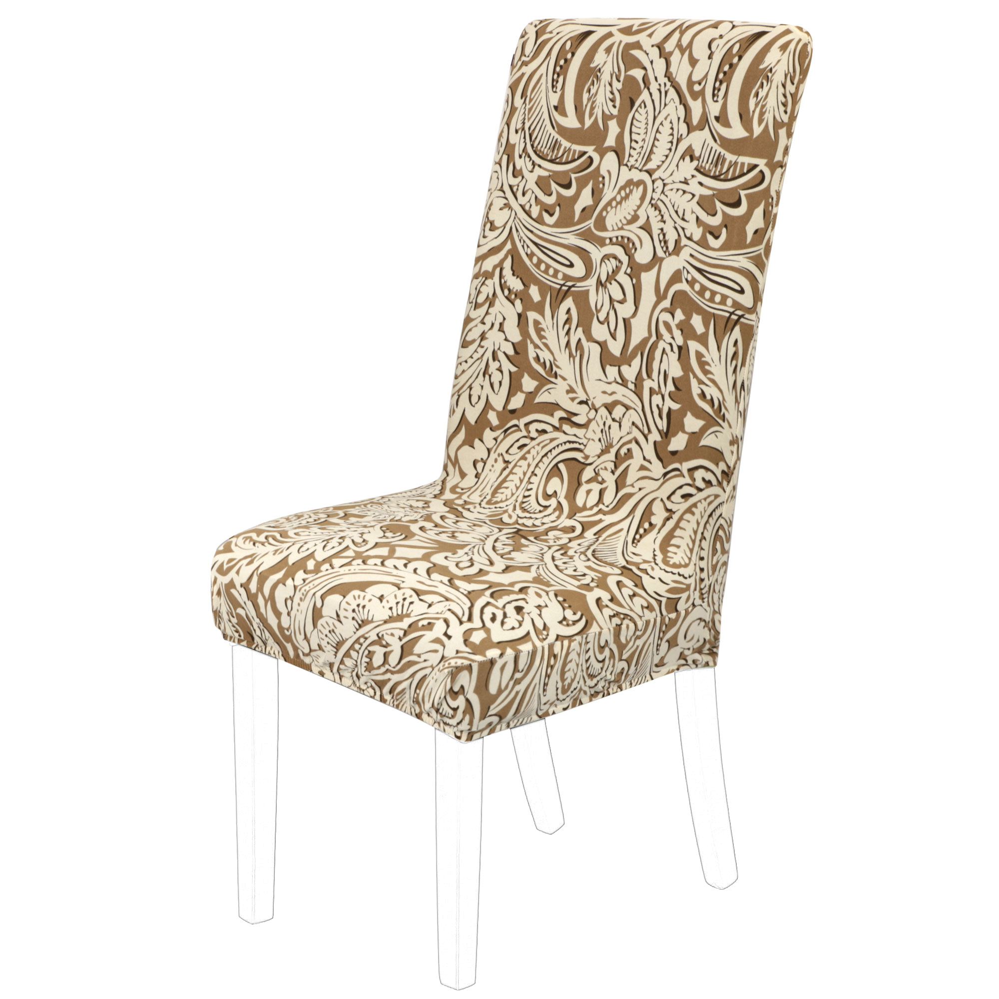 Removable Stretch Dining Chair Cover Protector Short Seat Slipcover for Wedding Hotel Banquet Home, #8