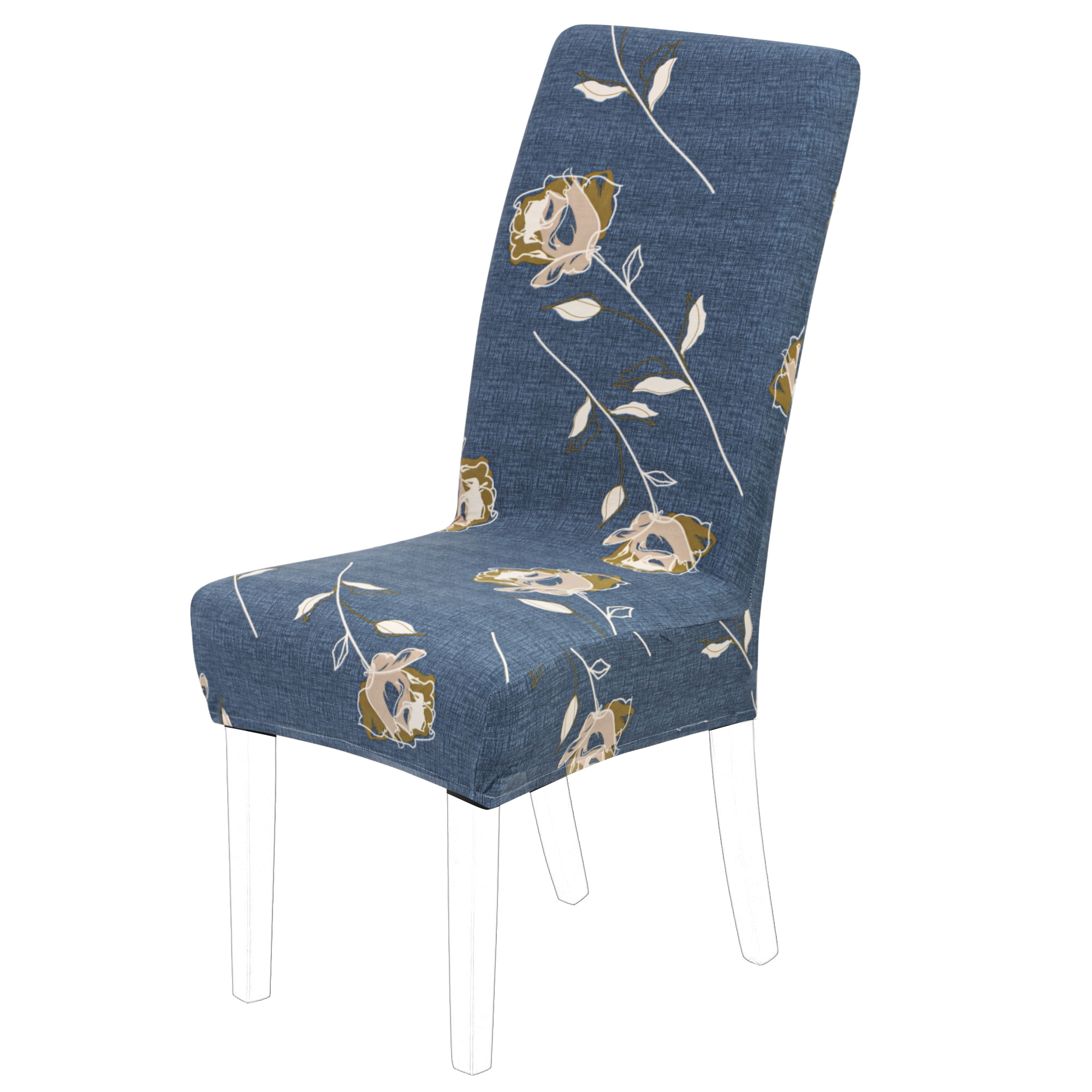 Removable Elastic Stretch Slipcovers Short Dining Room Chair Seat Cover #23