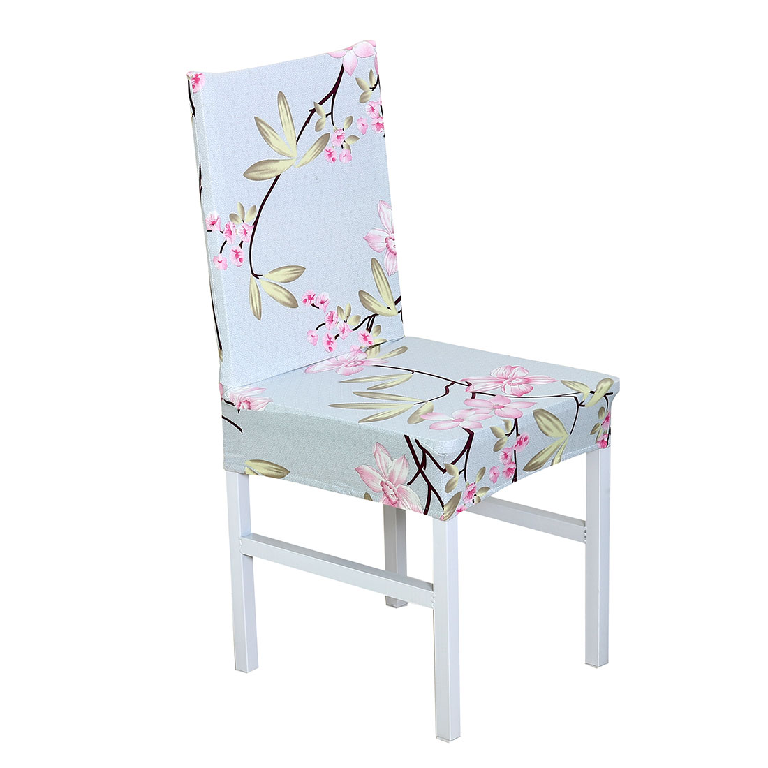 Removable Stretch Dining Chair Cover Protector Short Seat Slipcover for Wedding Hotel Banquet Home, #26