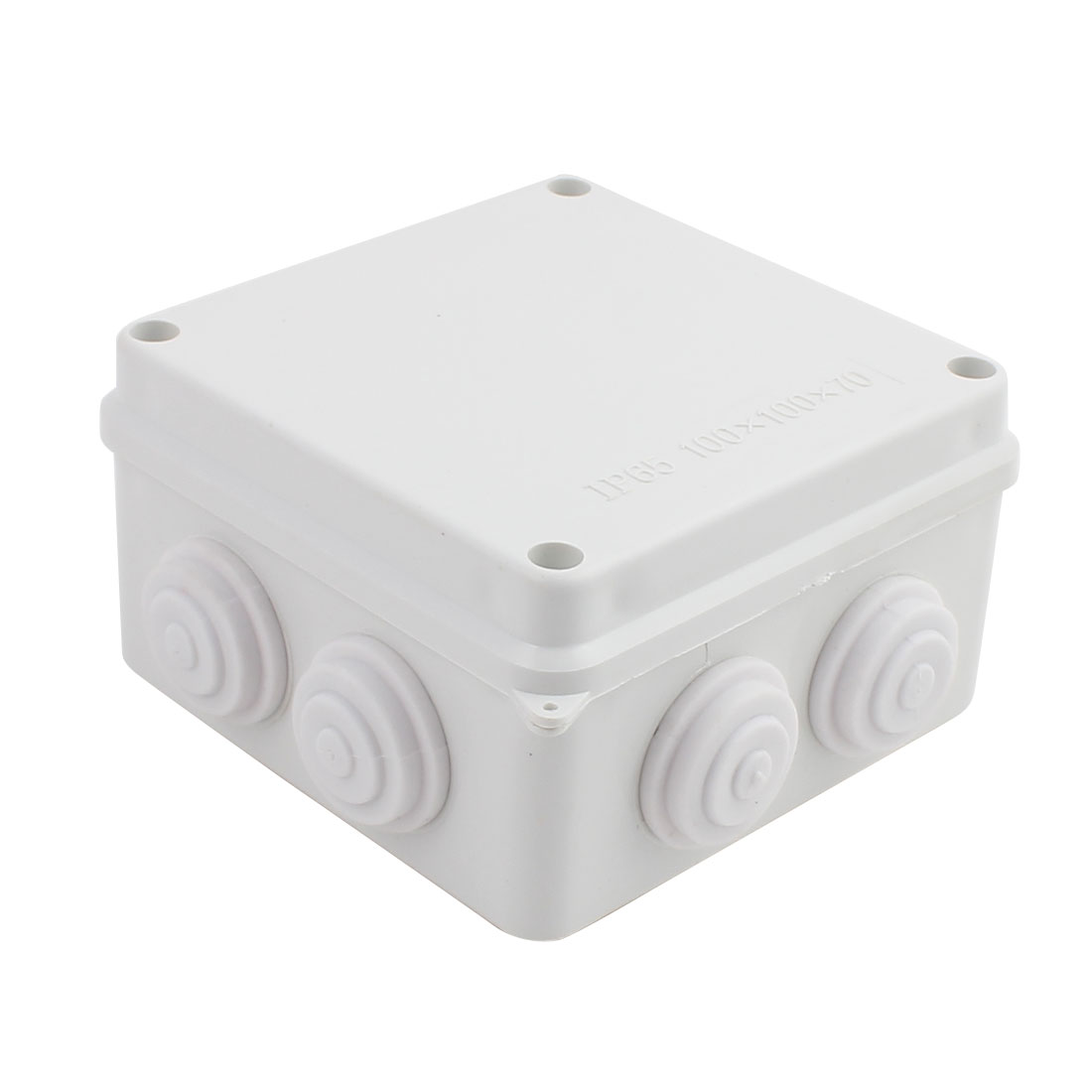 Gray ABS Enclosure Electronic Terminal Junction Box 100x100x70mm