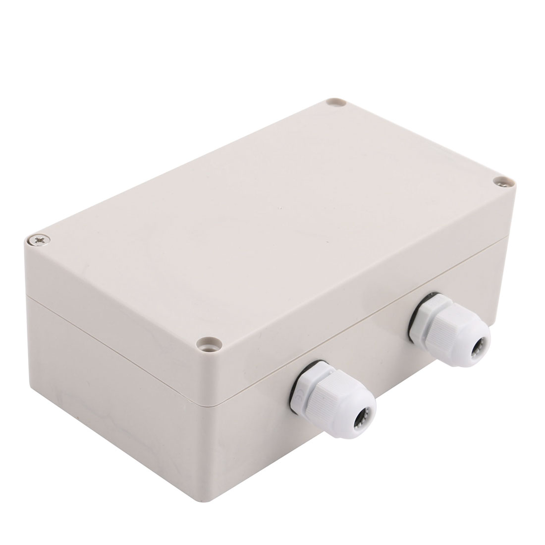 Set 158x90x60mm 1 Inlet to 2 Outlet Junction Box w Connector Gland