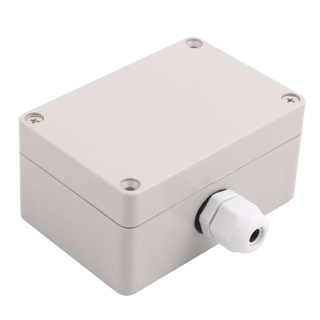 Set 100x68x50mm 1 Inlet to 1 Outlet Junction Box w Connector Gland