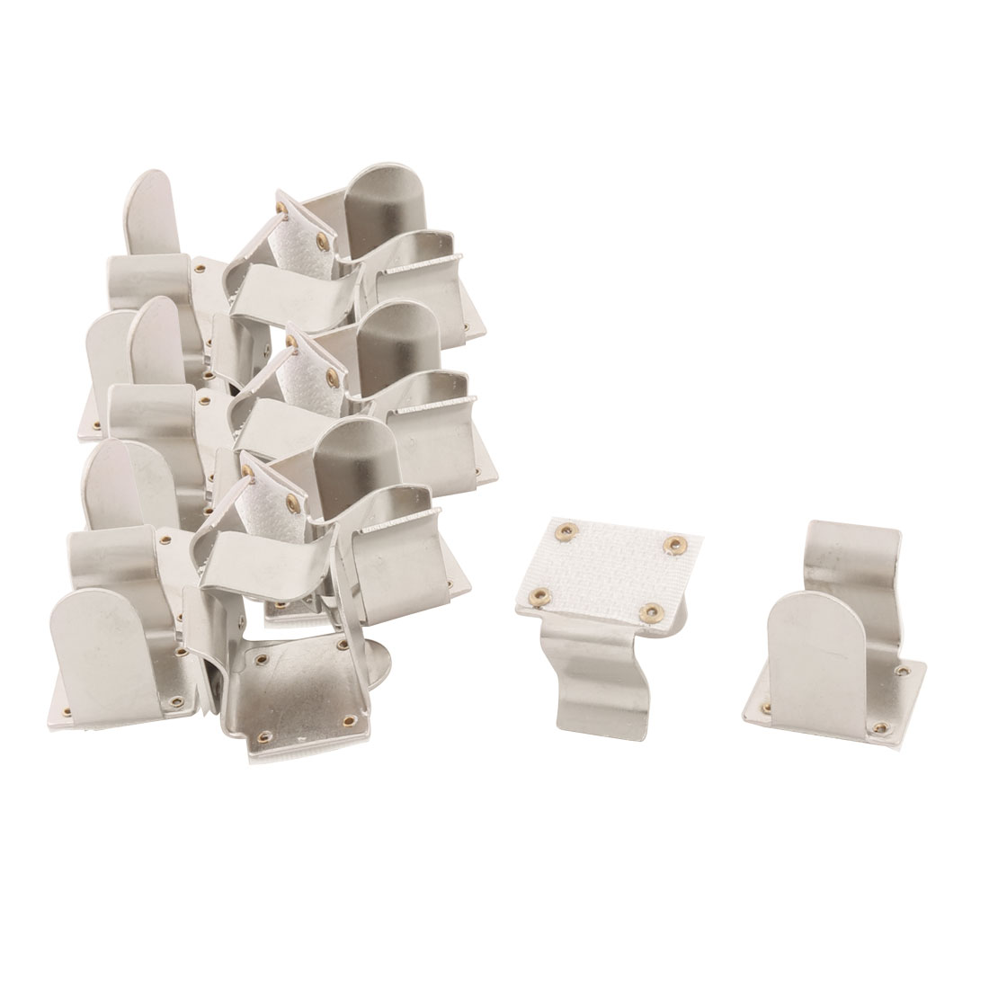 Household Picnic Metal Tablecloth Table Cover Fastener Clamp Clip Silver Tone 20 Pcs