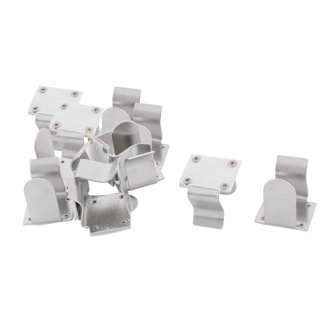 Family Hotel Metal Tablecloth Table Cover Clamp Clip Holder Silver Tone 12pcs