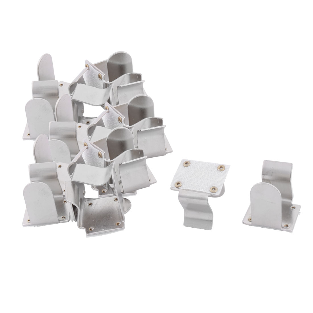 Family Hotel Metal Tablecloth Table Cover Clamp Clip Holder Silver Tone 20pcs