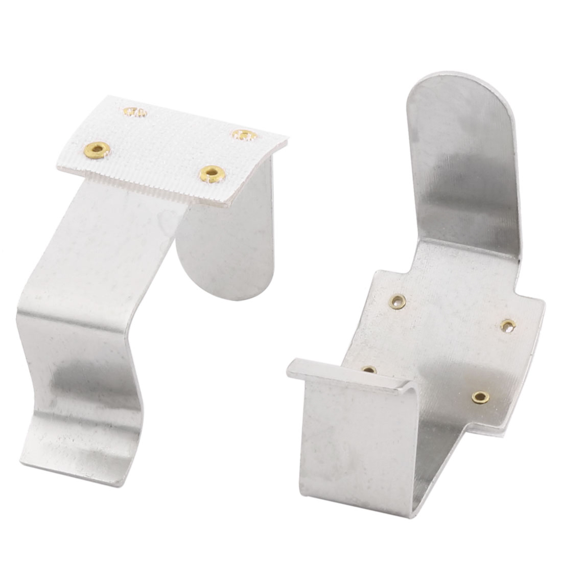 Home Hotel Metal Tablecloth Desk Table Cover Fastener Clamp Clip Silver Tone 2 Pcs