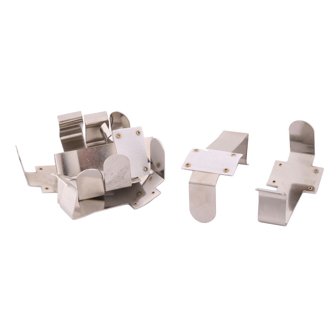 Dinning Table Metal Tablecloth Tablecover Clamp Clip Holder Silver Tone 8pcs