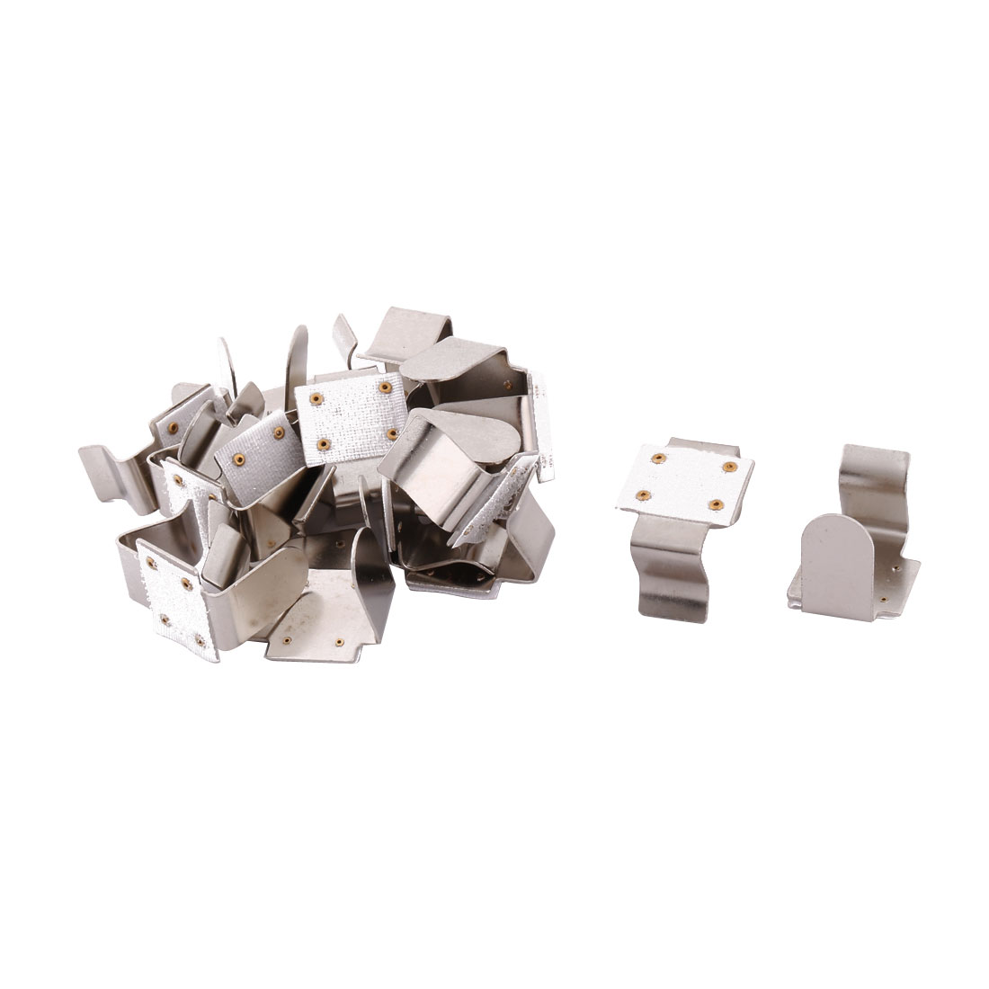 Restaurant Metal Tablecloth Fastener Clips Clamps Cover Holder Silver Tone 16pcs