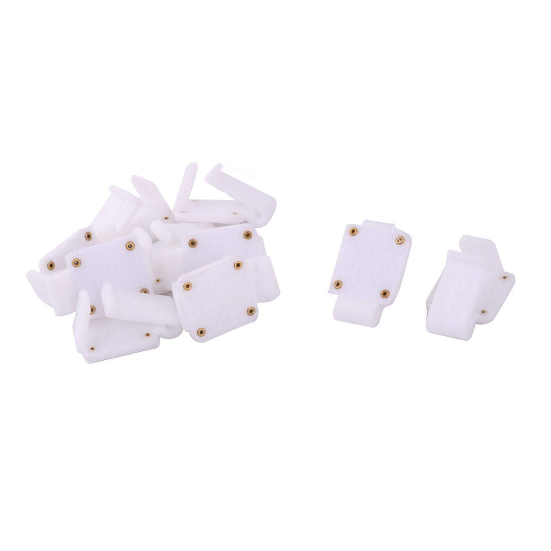 Outdoor Picnic Plastic Tablecloth Fastener Clips Clamps Cover Holder White 12pcs