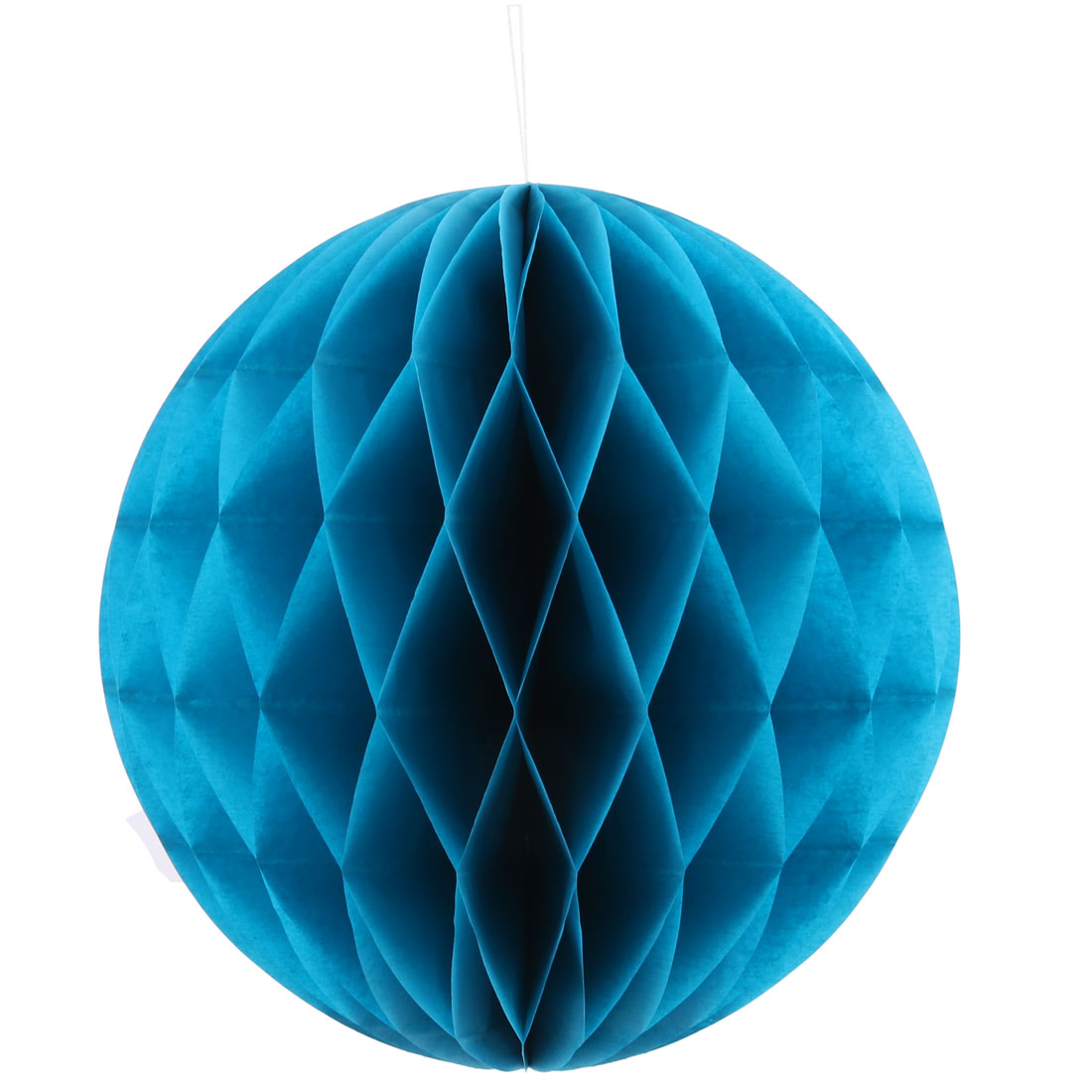 Festival Birthday Paper Foldable String Hanging Lamp Honeycomb Ball Blue 10 Inch Dia