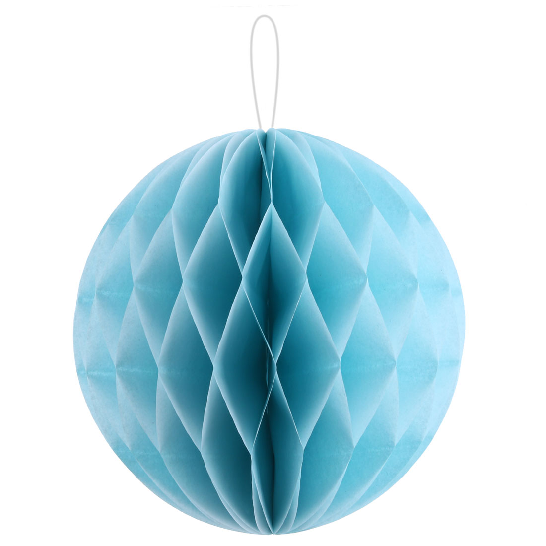 Birthday Party Paper DIY String Hanging Lantern Decor Honeycomb Ball Blue 10 Inch Dia