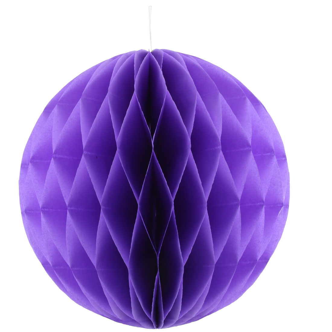 Festival Birthday Paper Foldable String Hanging Lamp Honeycomb Ball Purple 10 Inch Dia