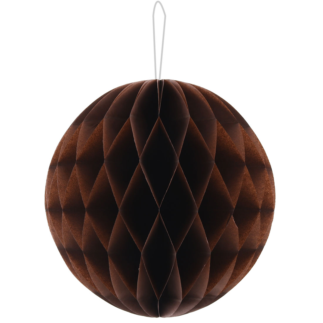 Festival Birthday Paper Foldable String Hanging Lamp Honeycomb Ball Coffee Color 10 Inch Dia