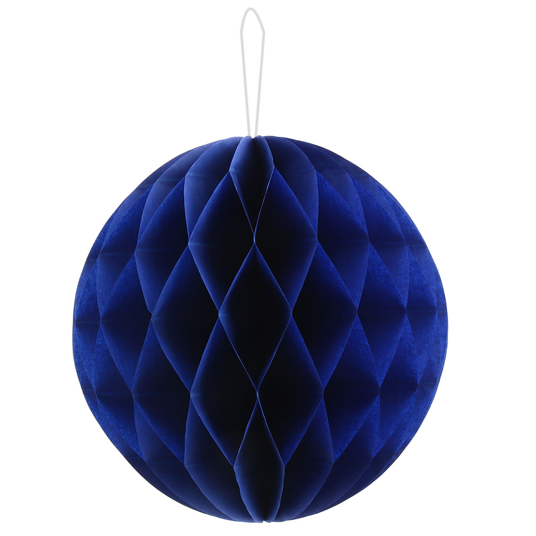 Birthday Party Paper DIY String Hanging Lantern Decor Honeycomb Ball Royal Blue 10 Inch Dia