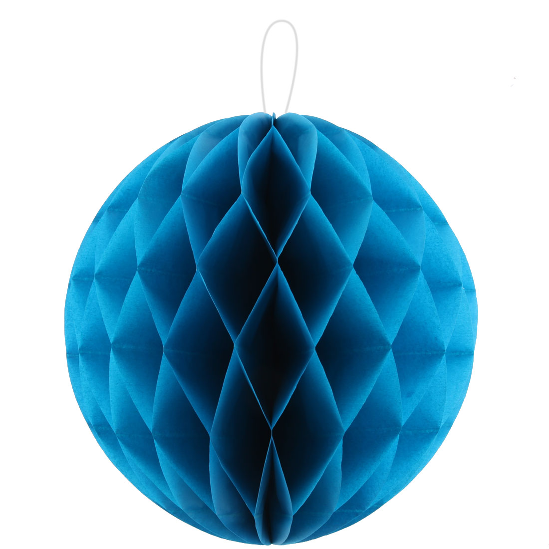 Paper Foldable DIY String Hanging Lantern Lamp Decor Honeycomb Ball Blue 12 Inch Dia