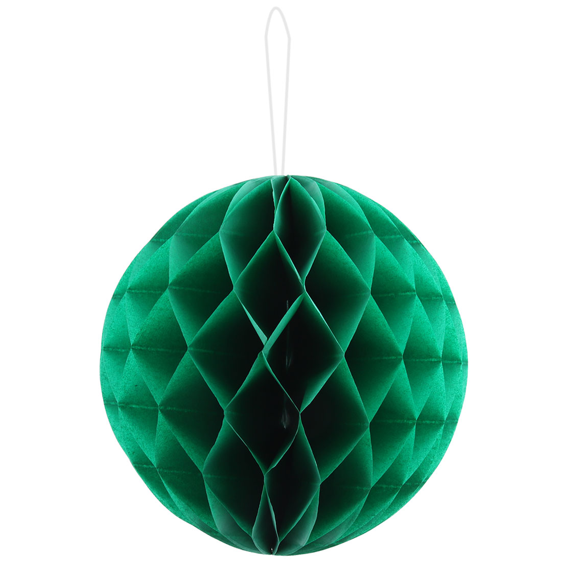 Paper Foldable DIY String Hanging Lantern Lamp Decor Honeycomb Ball Green 12 Inch Dia