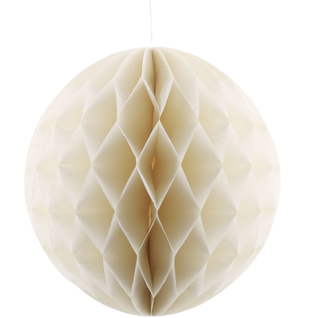 Home Paper Self-adhesive Handmade Hanging Decor Honeycomb Ball Off White 12 Inch Dia