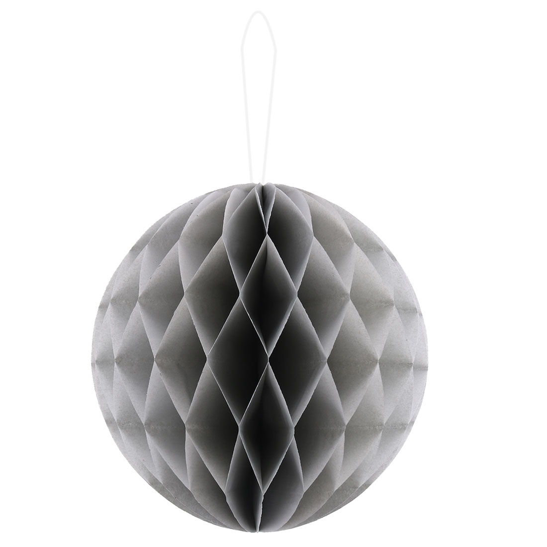 Paper Foldable DIY String Hanging Lantern Lamp Decor Honeycomb Ball Gray 12 Inch Dia