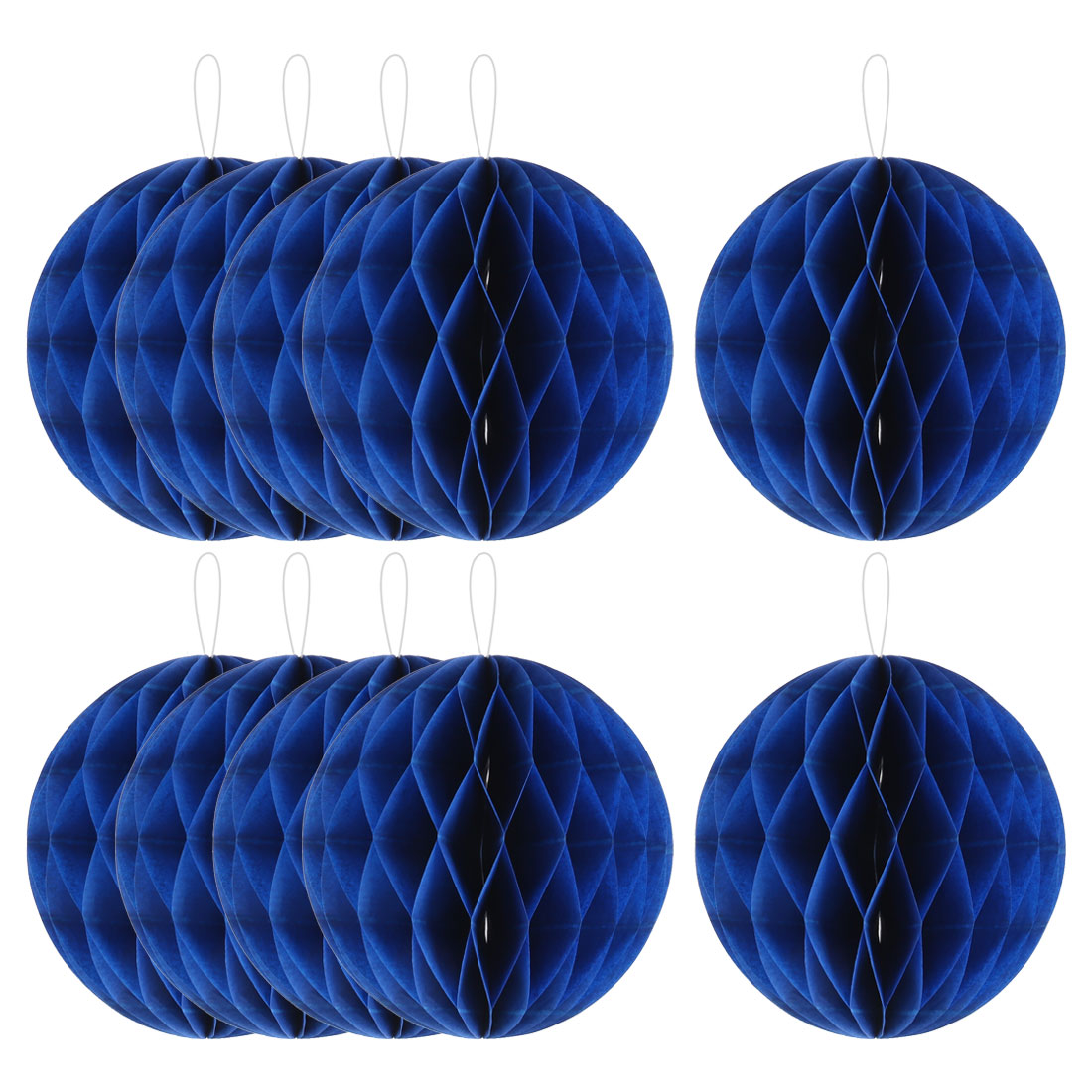 Household Party Paper Wall Window Door DIY Decoration Honeycomb Ball Royal Blue 4 Inch Dia 10 Pcs