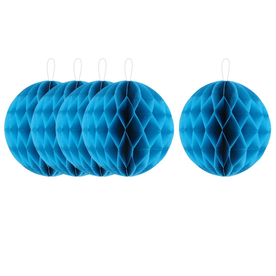 Party Lantern Design Tree Hanging DIY Decor Honeycomb Ball Sky Blue 6 Inch Dia 5pcs