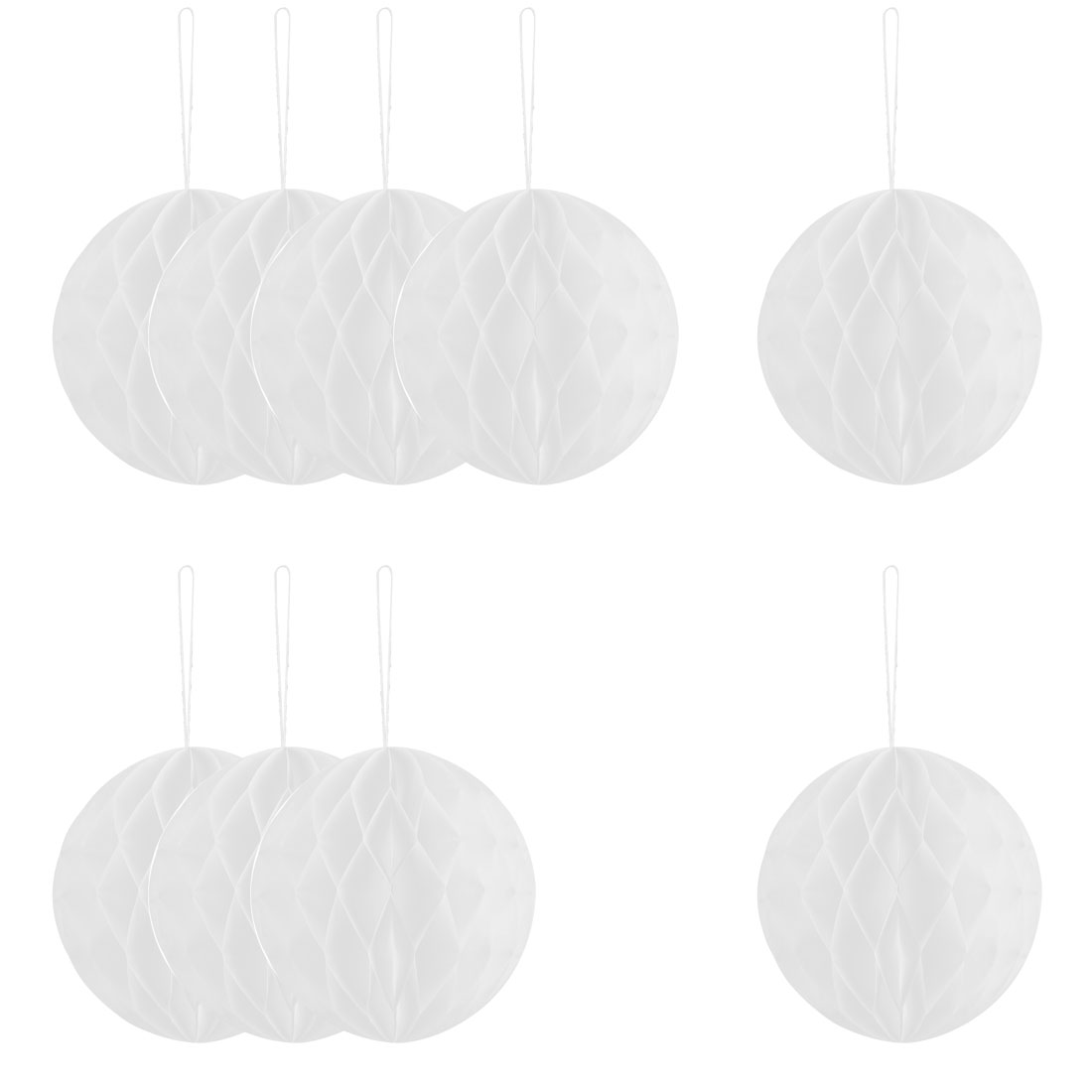 Festival Chinese Style DIY Wall Hanging Ornament Honeycomb Ball White 6 Inch Dia 10pcs