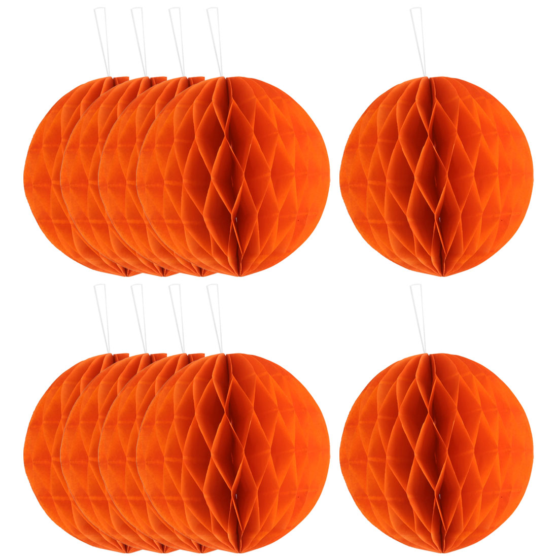 Festival Chinese Style DIY Wall Hanging Ornament Honeycomb Ball Orange 6 Inch Dia 10pcs