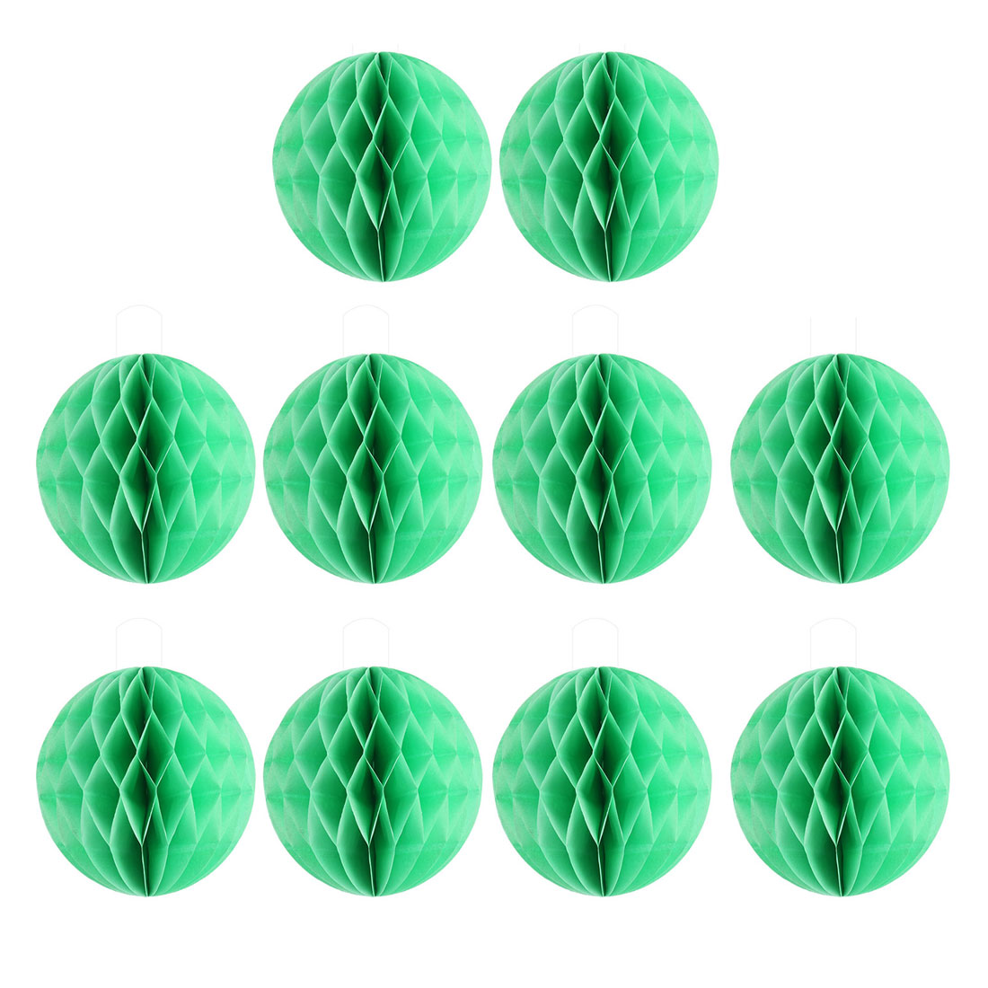 Wedding Party Paper Round Hanging Lantern Lamp Honeycomb Ball Decor Green 6 Inch Dia 10pcs