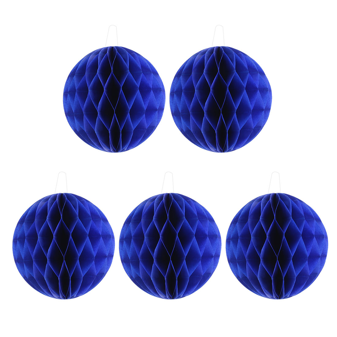 Party Paper DIY Craft Hanging Decor Honeycomb Ball Lantern Royal Blue 8 Inches 5pcs