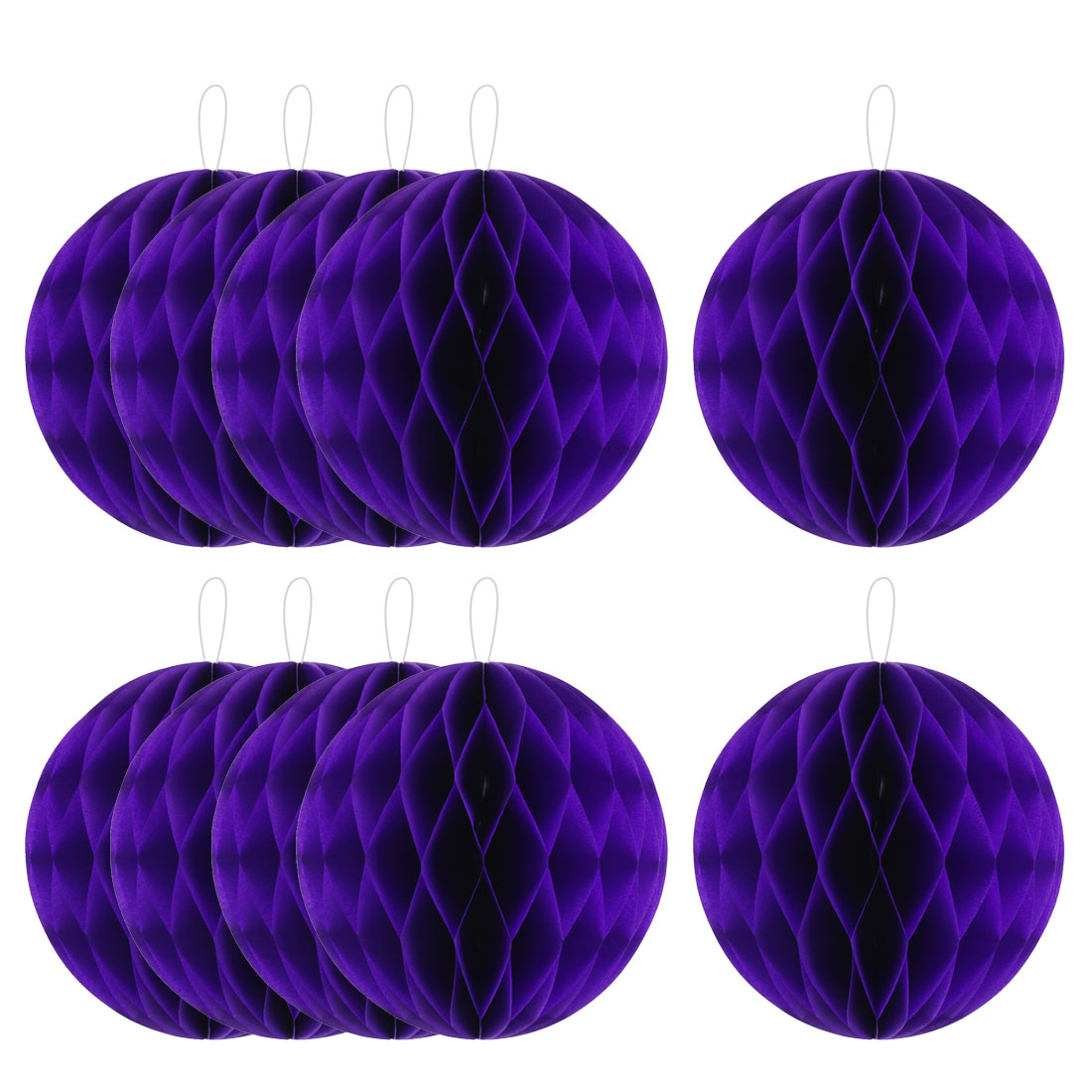 Party Paper DIY Craft Hanging Decor Honeycomb Ball Lantern Dark Purple 8 Inches 10pcs