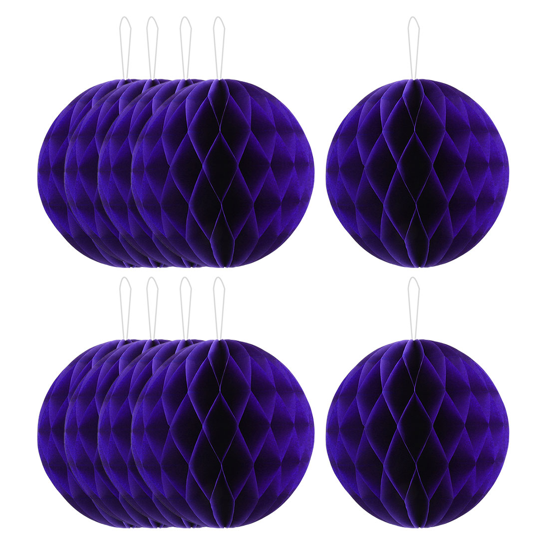 Family Paper Wall Door Hanging Decor Lantern Honeycomb Ball Dark Purple 10 Inch Dia 10 Pcs