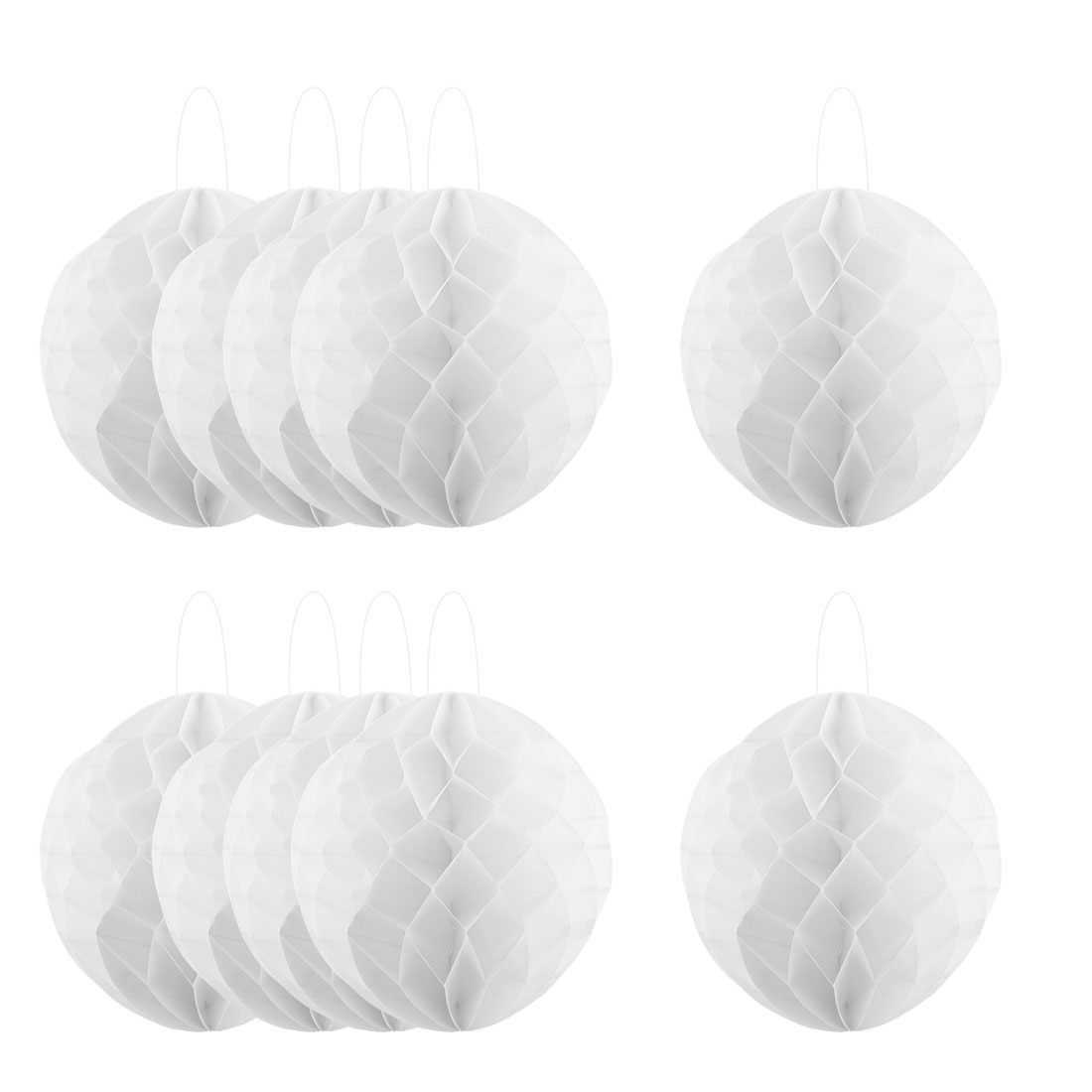 Household Party Paper Wall Window Door DIY Decoration Honeycomb Ball White 12 Inch Dia 10 Pcs