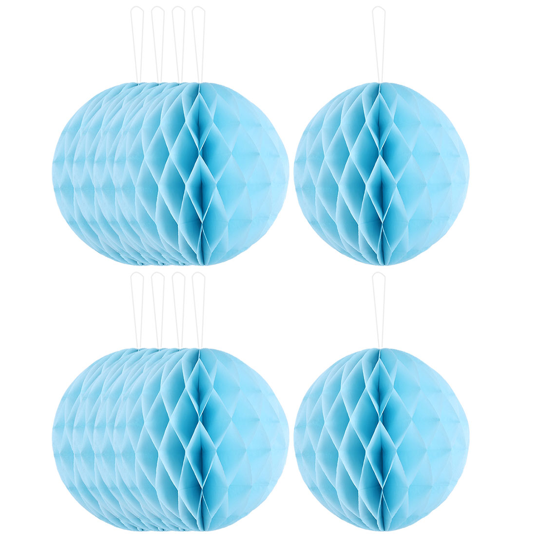 Household Party Paper Wall Window Door DIY Decoration Honeycomb Ball Sky Blue 12 Inch Dia 10 Pcs
